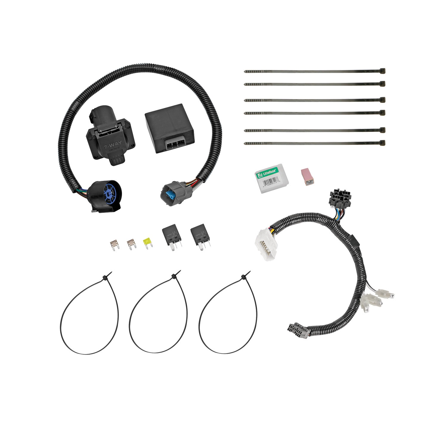Ford Replacement Oem Tow Package Wiring Harness 7 Way Schematic Wire Fuel Pump Wrangler 92jjeep Trailer