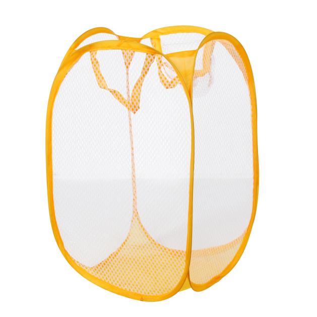 Foldable Pop Up Washing Laundry Basket Bag Hamper Mesh Storage Bag