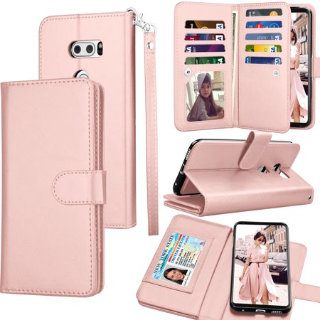 official photos d1c7b 51bae LG V30 Case, LG V30S ThinQ / LG V35 ThinQ Wallet Case, LG V30 Plus PU  Leather Case, Tekcoo Cash Credit Card Slots Holder Carrying Folio Flip  Cover ...