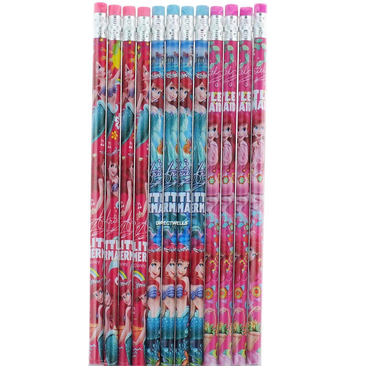 Party Favors Disney Princess Little Mermaid Ariel  24 Wood Pencils Pack