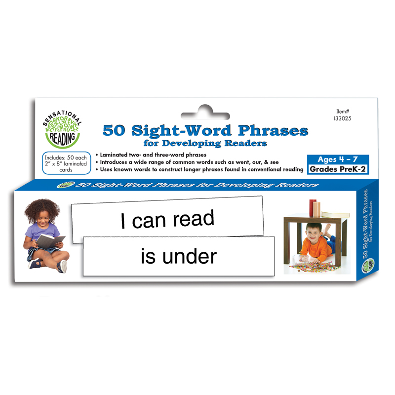 Essential Learning Products 50 Sight Word Phrases for Developing Readers