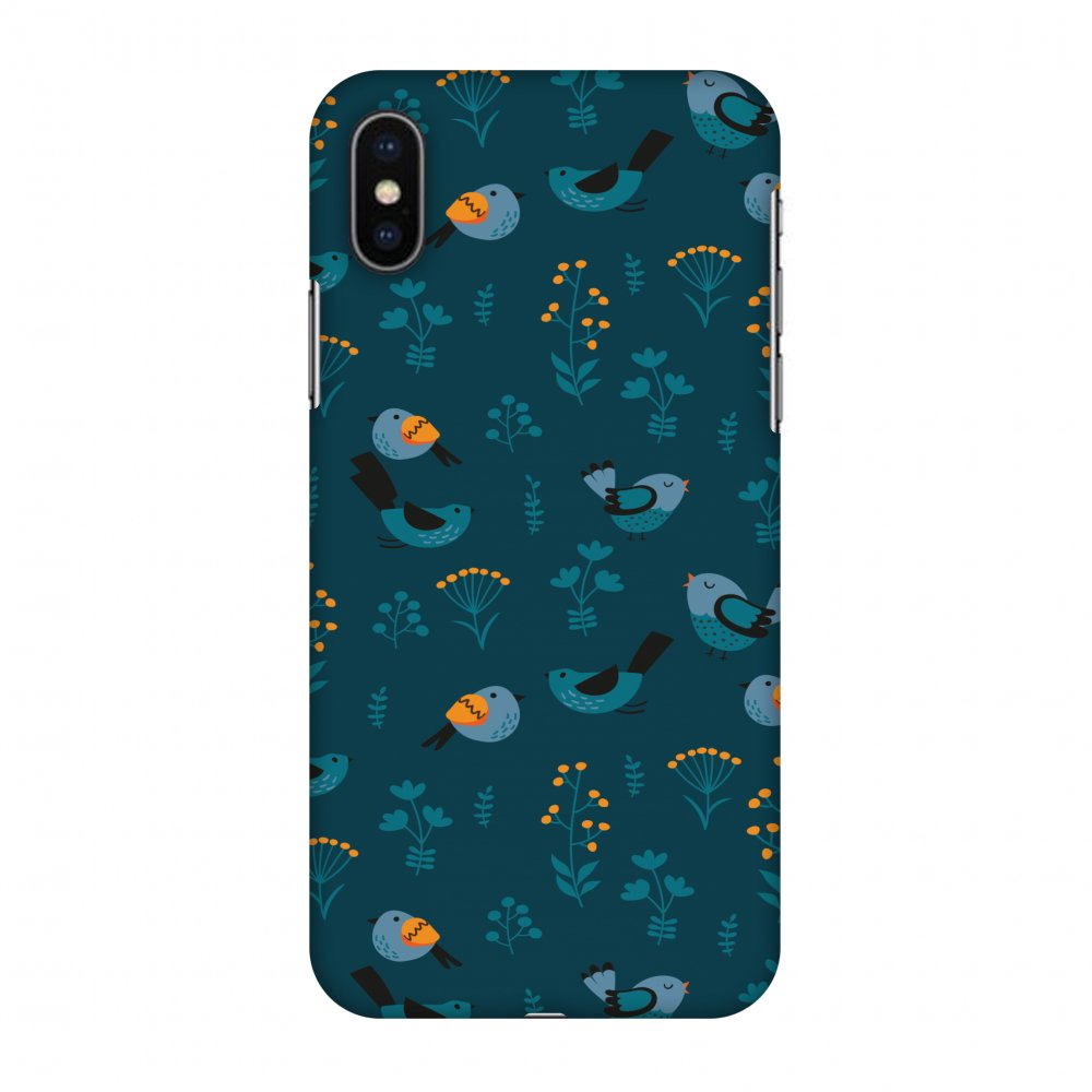 iPhone X Case - Sparrow, Hard Plastic Back Cover. Slim Profile Cute Printed Designer Snap on Case with Screen Cleaning Kit