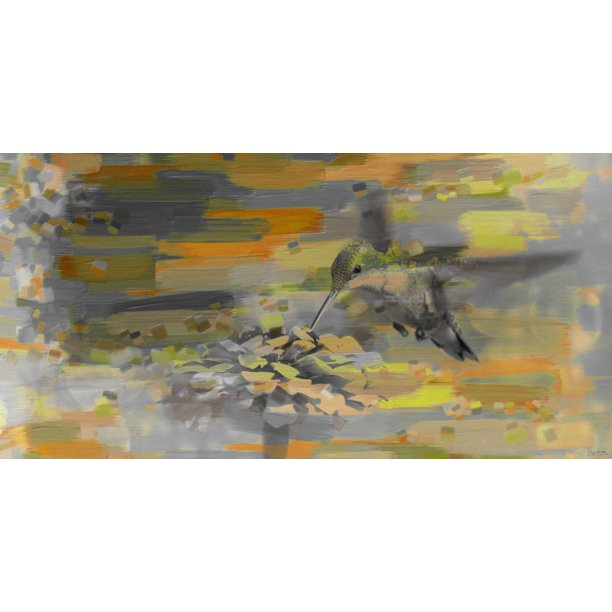 Parvez Taj Birds: Parvez Taj Whirly Bird Art Print On Premium Canvas