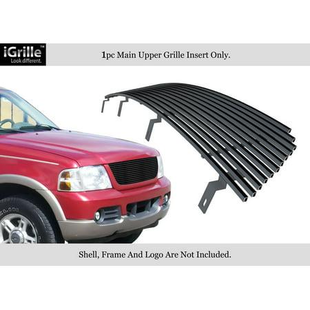- For 2002-2005 Ford Explorer Black Stainless Steel Billet Grille Insert #N19-J13358F