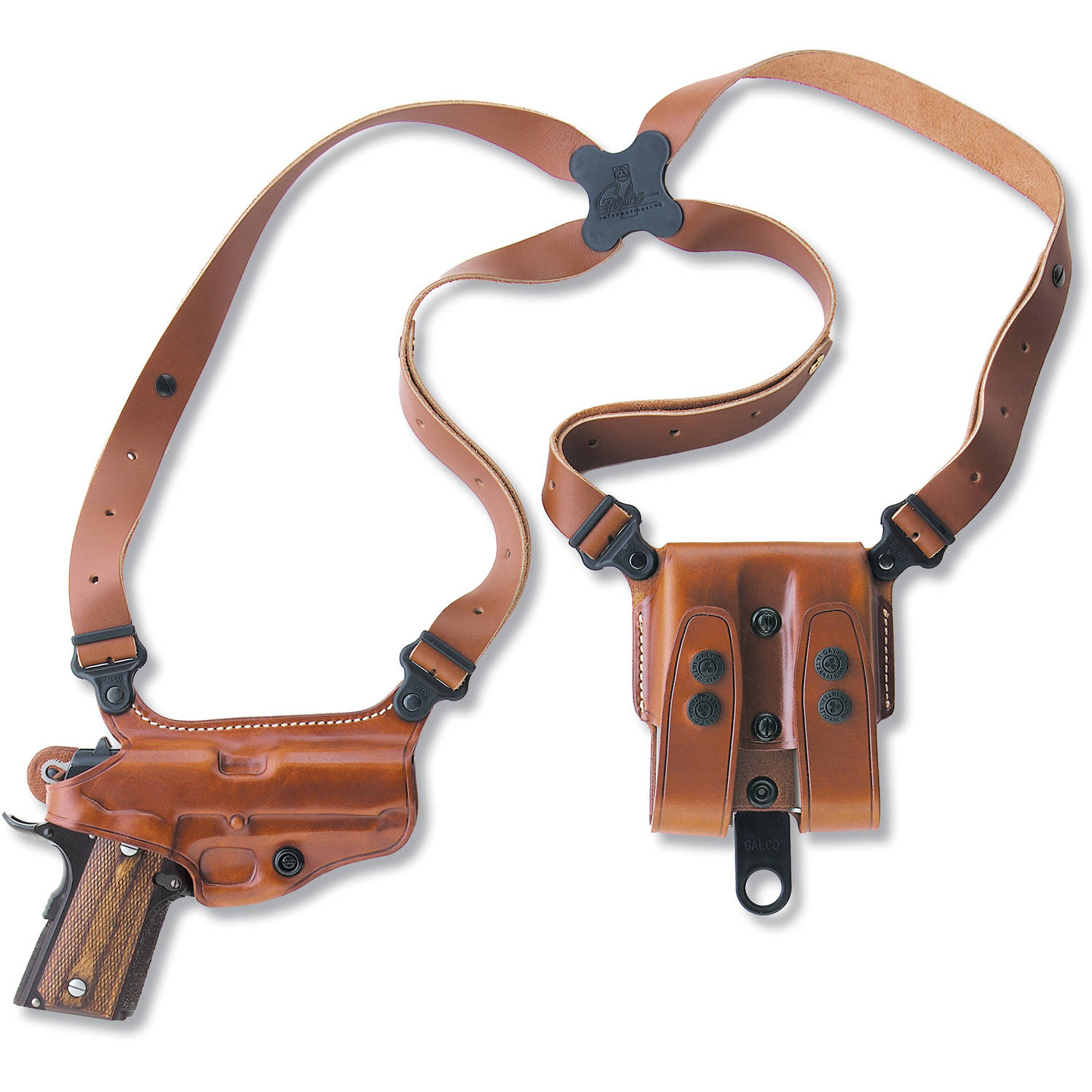 Galco Miami Classic Shoulder Holster, Fits HK USP 9mm .40S&W .45ACP, Right Hand, Tan Leather by Galco