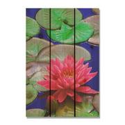 Day Dream HQ LB1624 16 x 24 in. Lotus Blossom Inside & Outside Cedar Wall Art