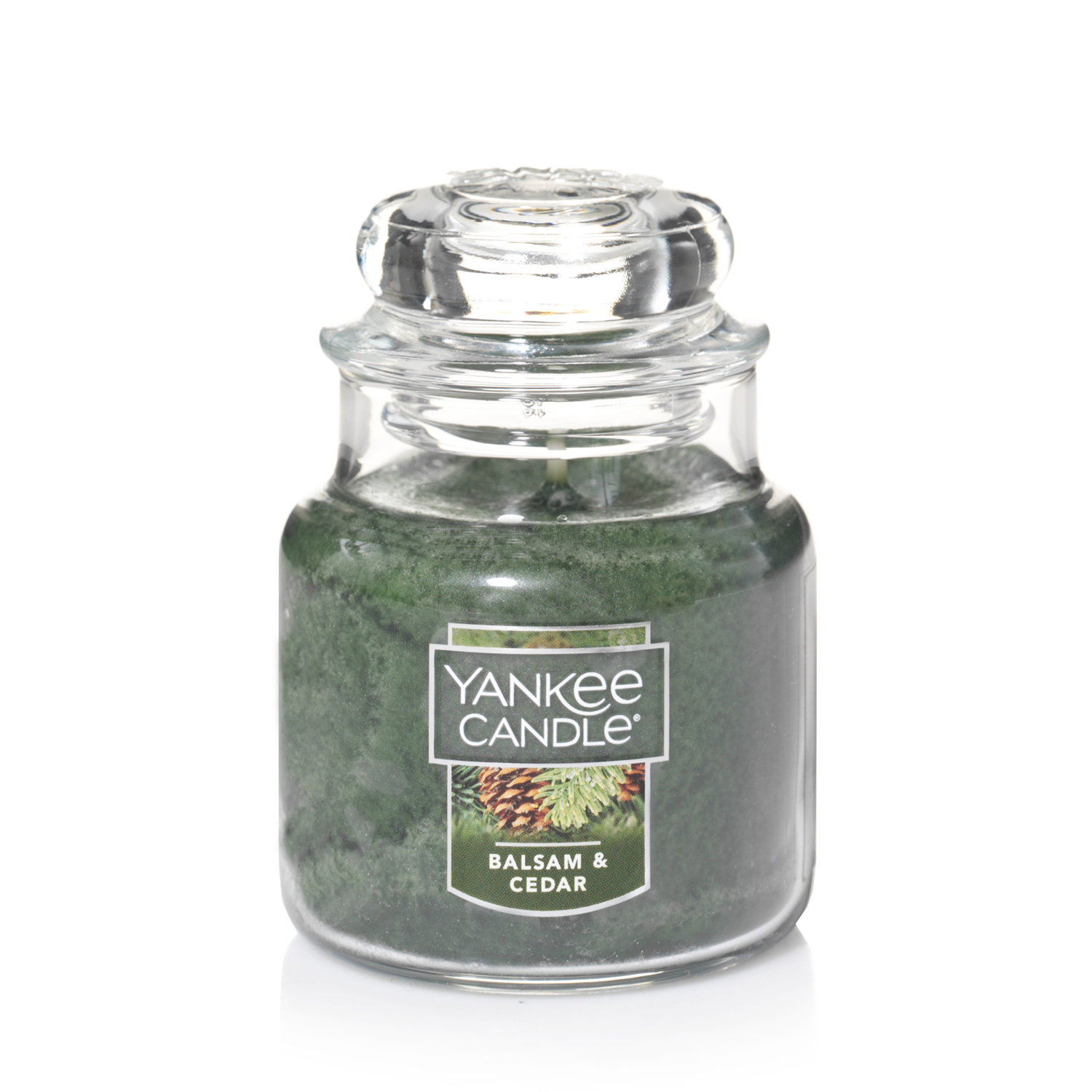 Yankee Candle Small Jar Candle, Balsam & Cedar