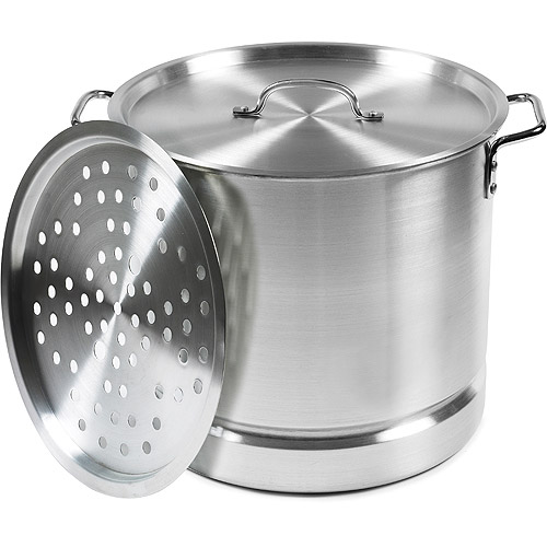 IMUSA 32-Quart Aluminum Tamale and Seafood Steamer