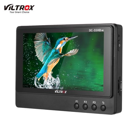 Viltrox DC-55 5.5 Inch Professional 1920 * 1080 HD Monitor 4K HDMI AV Signal Input Camera Video Monitor with Peaking Focus/ False Color/ Monochrome Display/ Luminance Histogram/ Volume Bar Functions ()