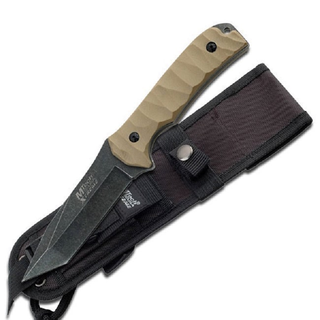MTech MX-8065 10-inch Fixed Blade Knife Tan