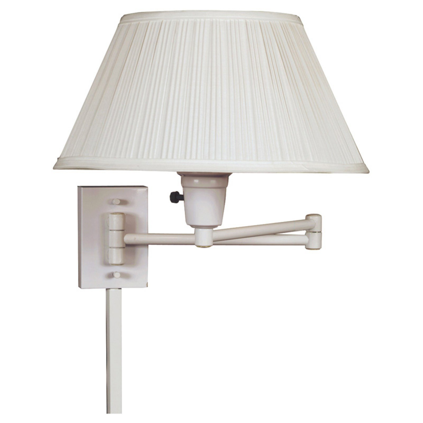 Kenroy Home Simplicity Wall Swing Arm Lamp 16W in. White by Kenroy Home
