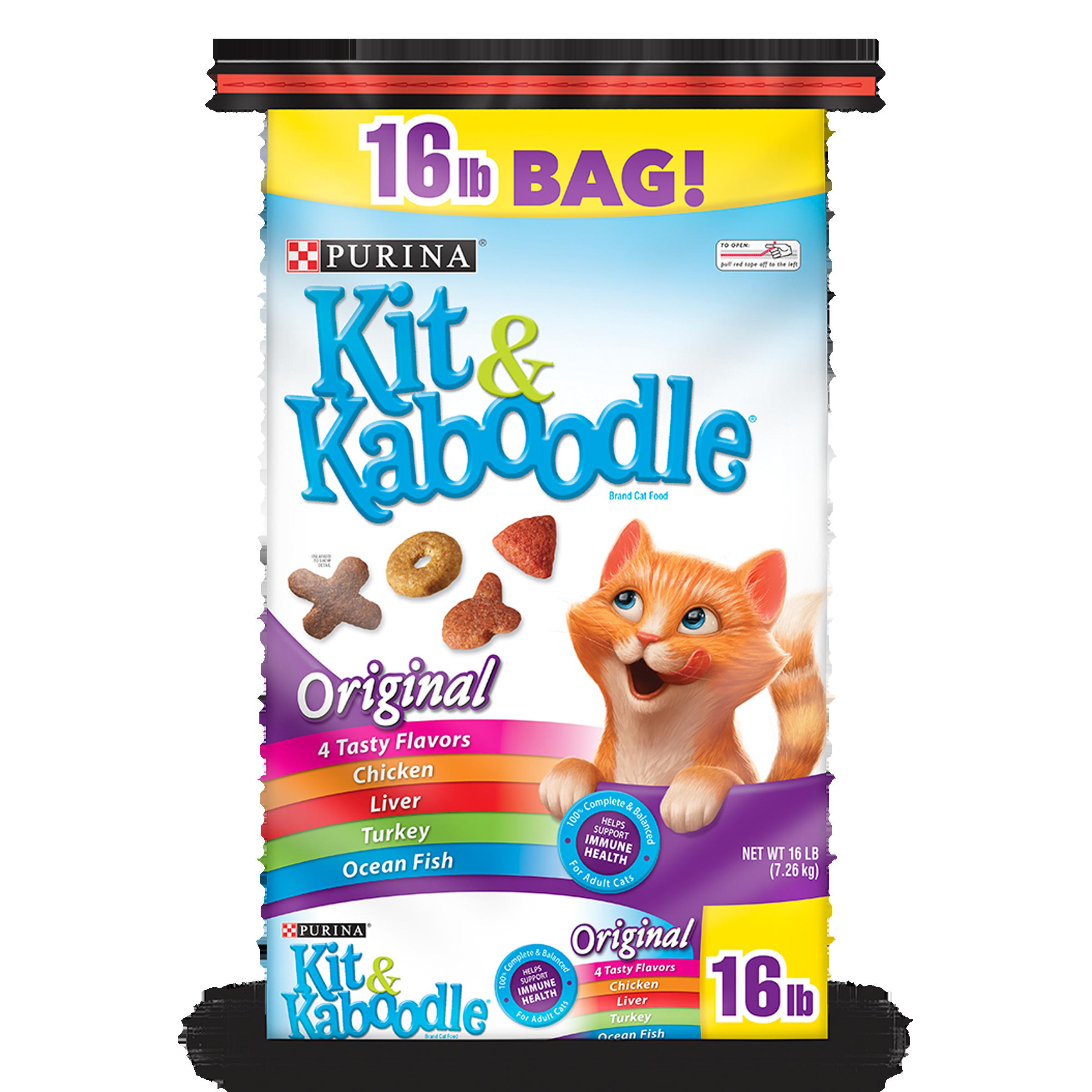 Purina Kit & Kaboodle Original Adult Dry Cat Food - 16 lb. Bag