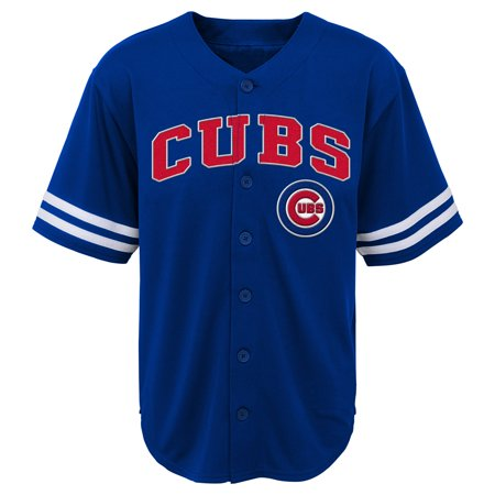 State Baseball Jersey - MLB Chicago CUBS TEE Short Sleeve Boys Fashion Jersey Tee 60% Cotton 40% Polyester BLACK Team Tee 4-18