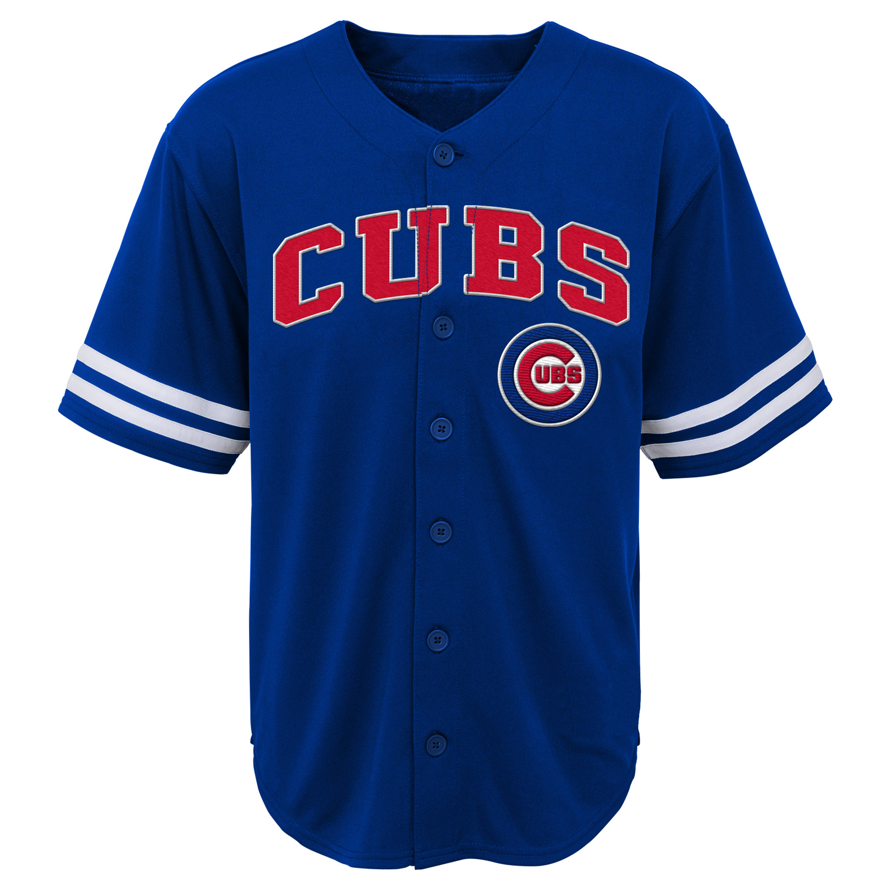 MLB Chicago CUBS TEE Short Sleeve Boys Fashion Jersey Tee 60% Cotton 40% Polyester BLACK Team Tee 4-18