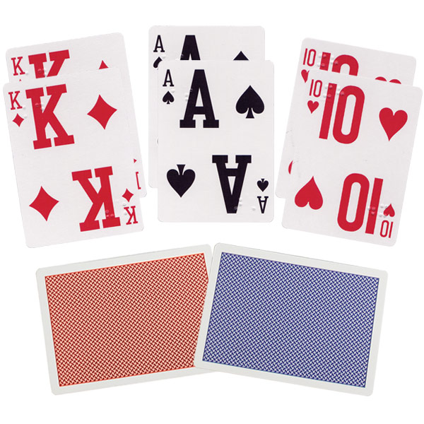Elite Braille Low Vision Playing Cards - Pack of 2