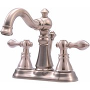 Ultra Faucets UF45113 2-Handle Brushed Nickel Lavatory Faucet with Pop-Up Drain