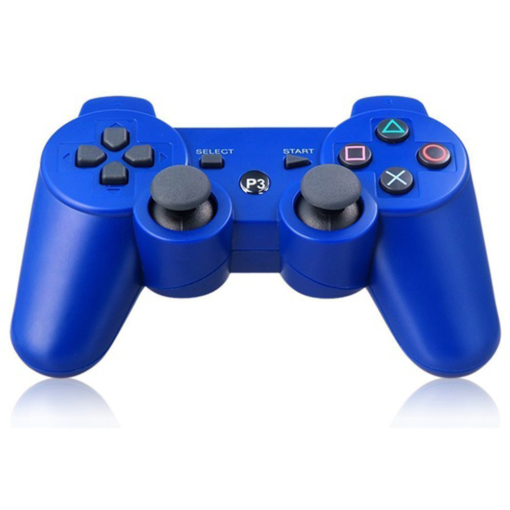 Wireless Blue Bluetooth Double Shock Game Controller for PS3 Playstation 3