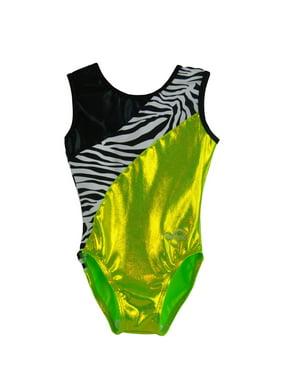 Obersee  Girl's Girls Gymnastics Leotard - Lime Zebra