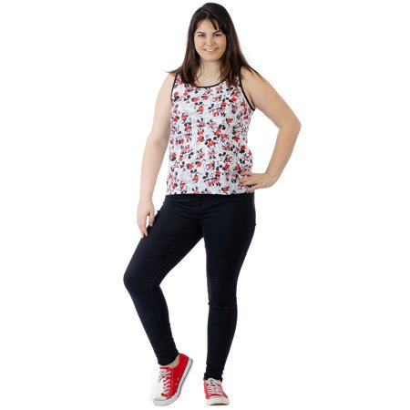 cfffe0b0fb4 Women s Plus Size Minnie Mickey Mouse All-Over Print Tank Top Shirt - image  1 ...