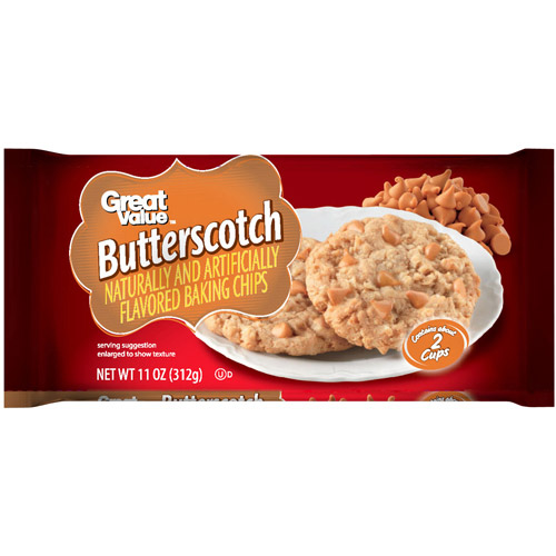 Great Value Butterscotch Flavored Baking Chips, 11 oz