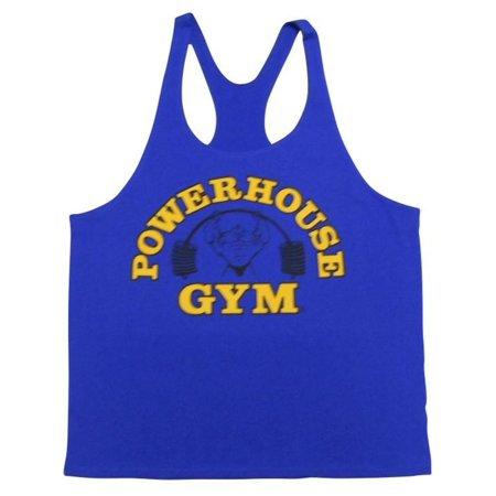 PowerHouse Gym Stringer Y-Back Tank Top-Royal Blue- XL