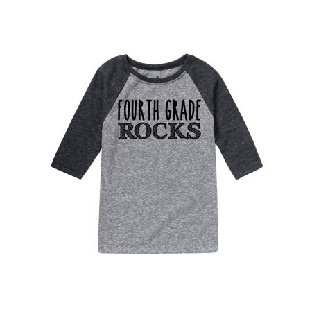 Fourth Grade Rocks - Youth Raglan