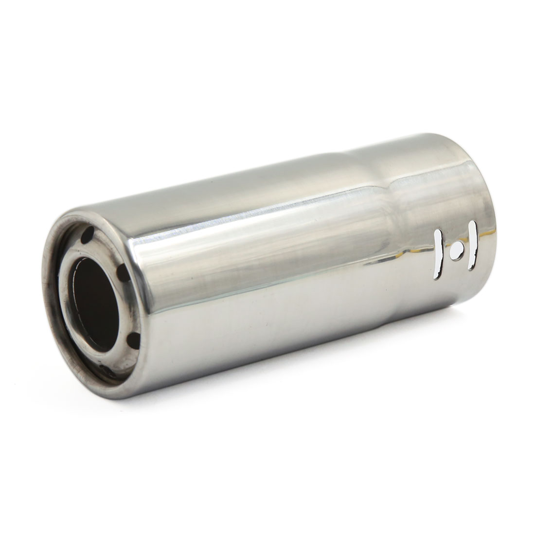Unique Bargains 58mm Inlet Car Exhaust Muffler Straight Decorative Tip Stainless Steel Tail Pipe
