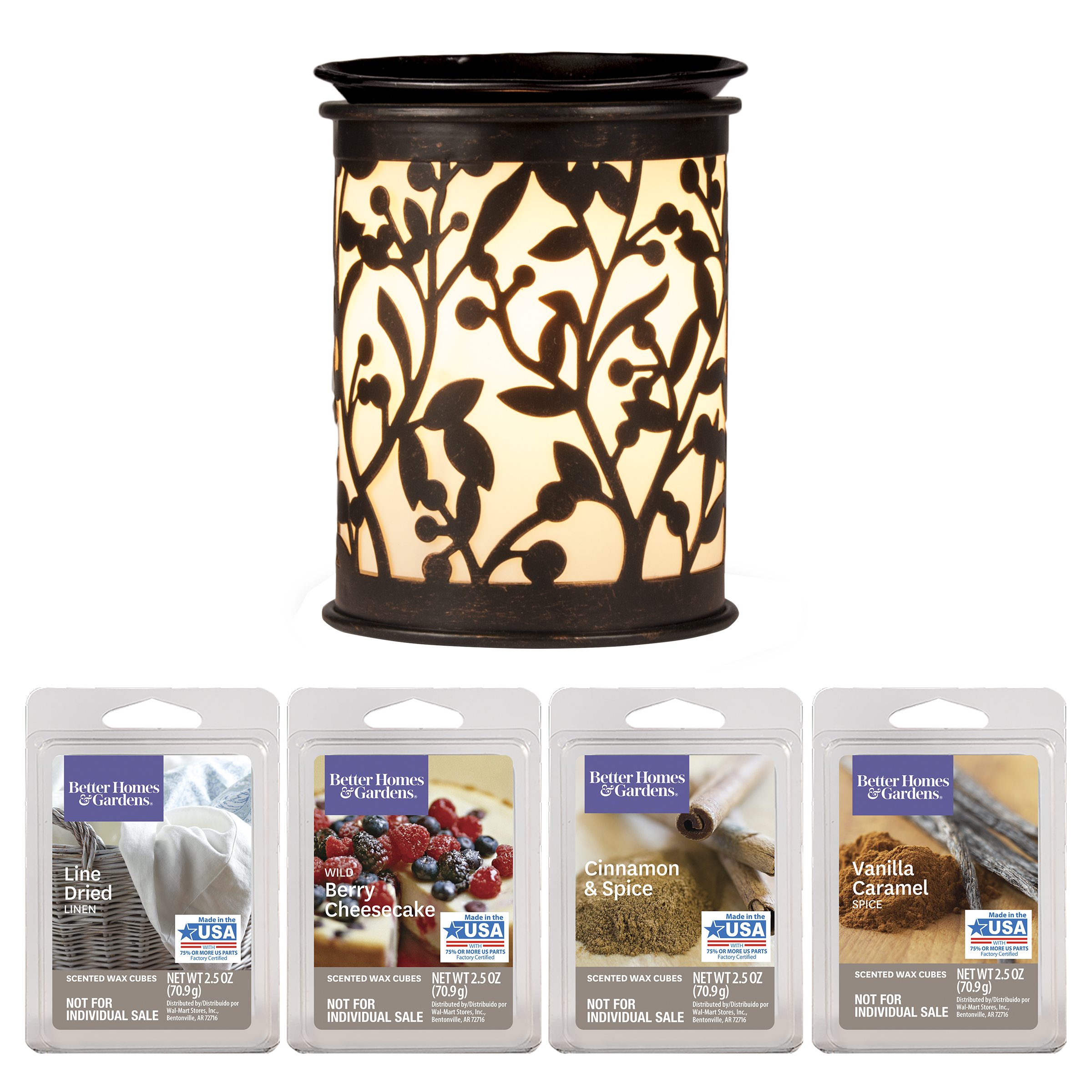 Better Homes & Gardens Botanical Glow Full-Size Wax Warmer Starter Set