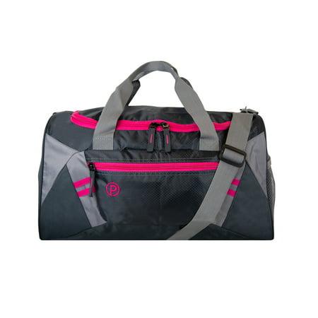 Protege 18in Duffel Grey/pink (4 Piece Duffel)