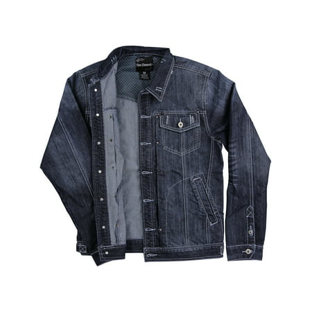 - Men's Denim Jean Jacket (Dark Indigo, Medium)