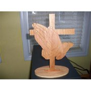 Fine Crafts 1428REL Wooden Praying Hands And Cross Display
