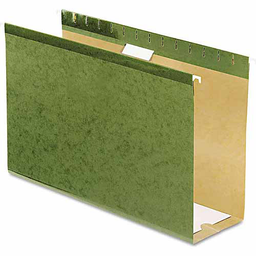 "Pendaflex Reinforced 4"" Extra Capacity Hanging Folders, Standard Green, 25ct"