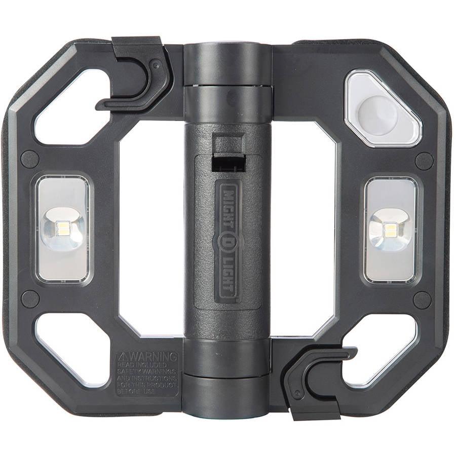 Might-D-Light 200-Lumen Black Mini Compact Folding LED Work Light