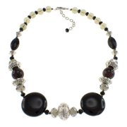Pearlz Ocean  Agate and Smoky Glass 19-inch Necklace