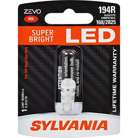 194 Type Led Replacement Bulb (SYLVANIA ZEVO 194 T10 W5W Red LED Bulb )