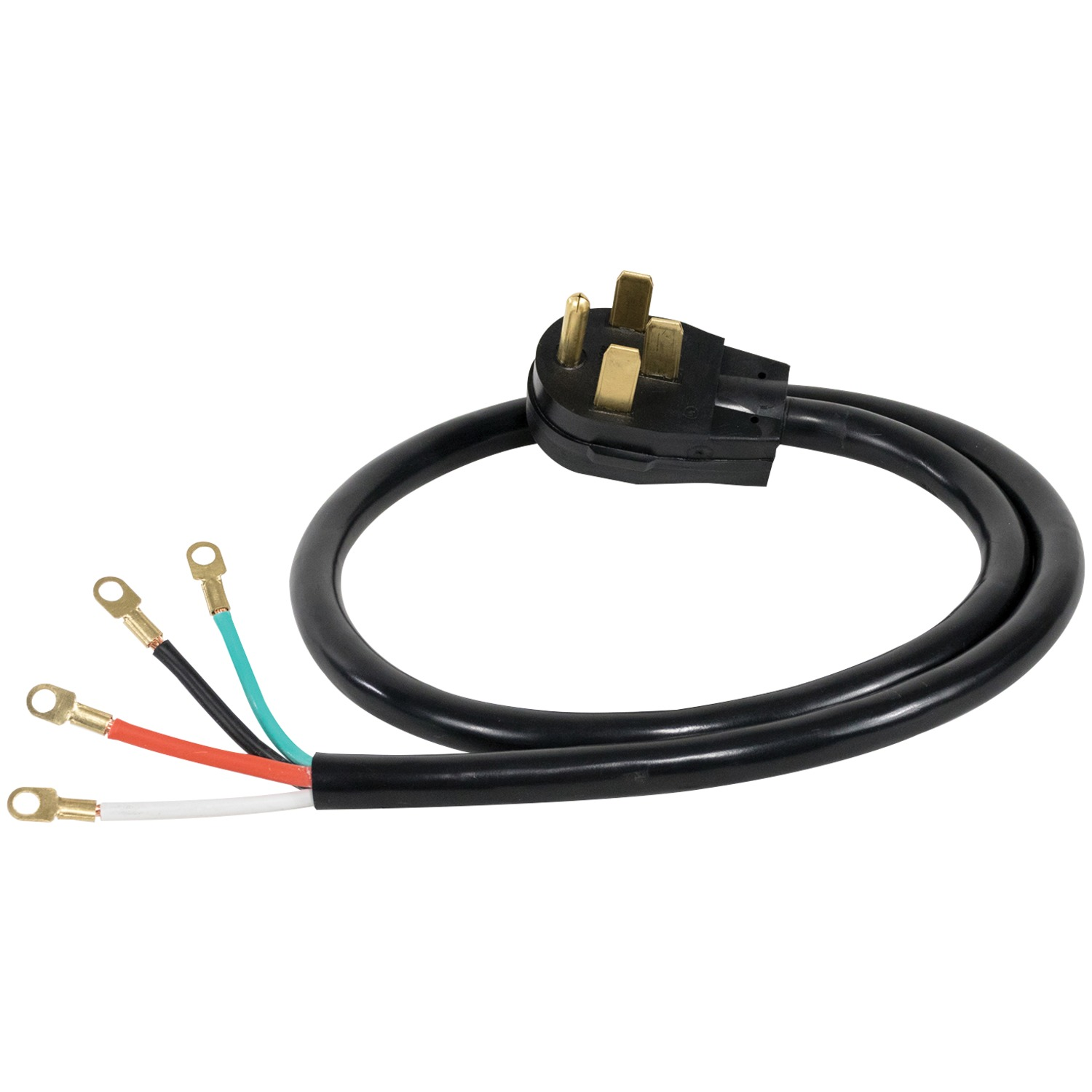 Certified Appliance Accessories 90 2080 4 Wire Closed Eyelet 50 Amp Wiring A Outlet For Stove Range Cord 4ft