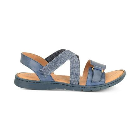 a312e5863fecd Born - Born Womens Britton Leather Open Toe Casual Slide Sandals -  Walmart.com