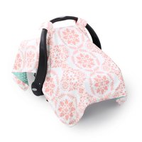 Coral Pink Medallions Infant Car Seat Canopy Cover by The Peanut Shell