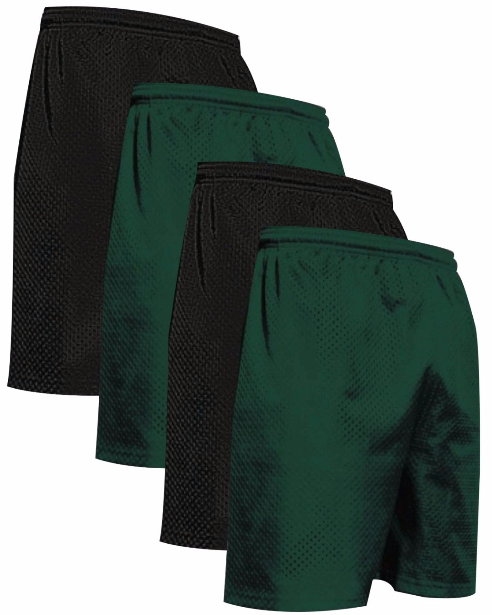 "VALUE PACK  > BUY 2 GET 2 FREE >  4 PACK > THE RAM BRAND > Men's  9"" Performance Pro Mesh Gym Champ Shorts (XS-4XL) $10 S/H is on the 1st Pack only. In this Pack: (4XL)(2Black/2Forest)"