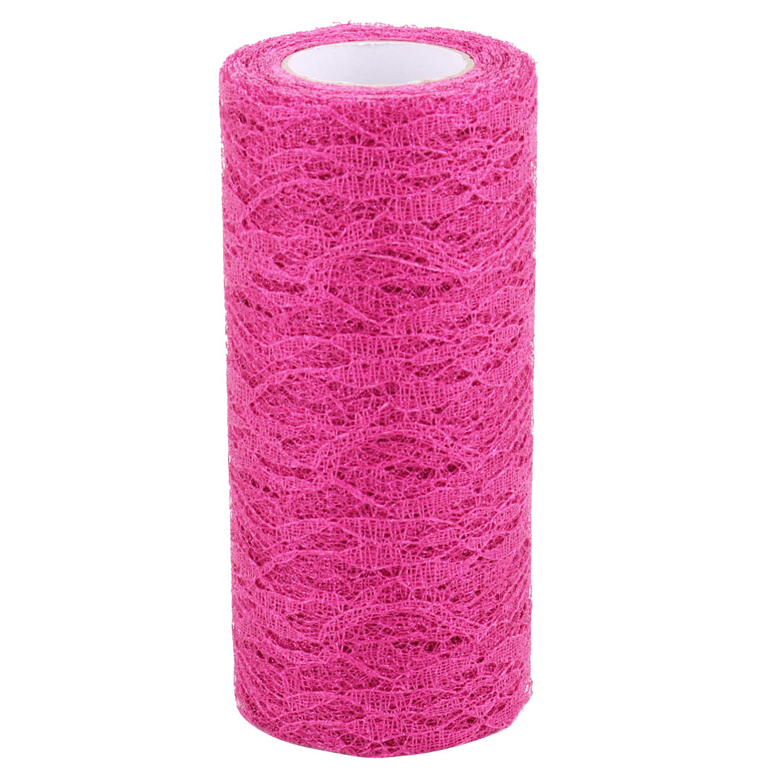 Home Party Polyester Decoration Tulle Spool Roll Fuchsia 6 Inch x 10 Yards