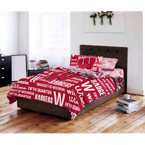 NCAA University of Wisconsin Badgers Bed in a Bag Complete Bedding Set