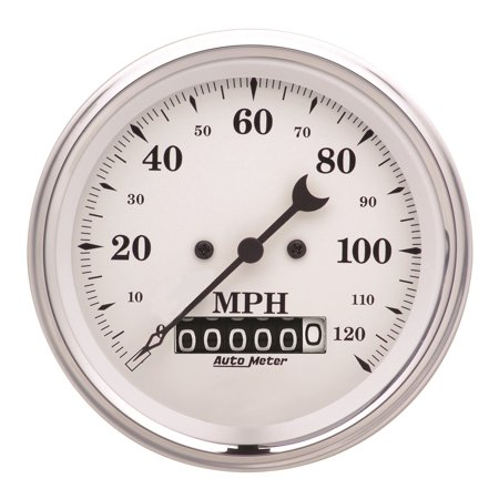 Auto Meter 1679 Speedometer    120 Mph   Electronic   Old Tyme White