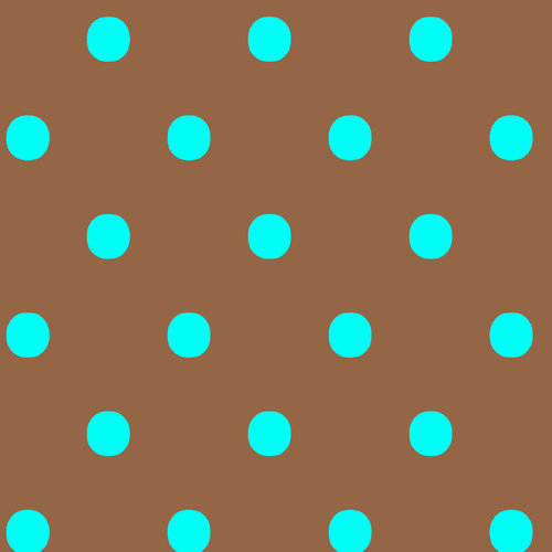 VIP Fabrics Dots Fabric, Aqua on Cocoa