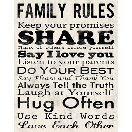 Family Rules A Canvas Wall Art, 15\