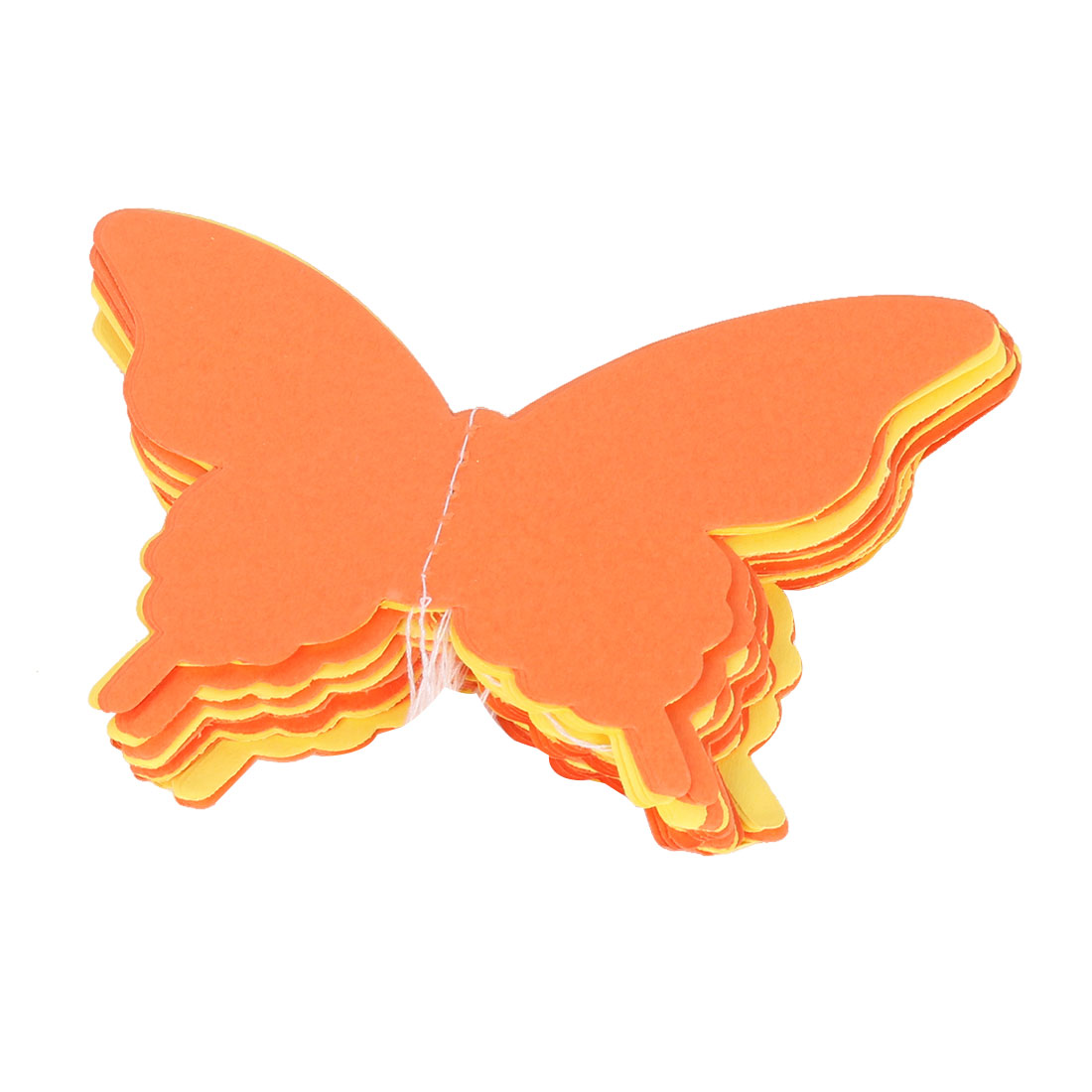 Party Paper Butterfly Shaped Crafting Hanging Garland Ornament Orange Yellow