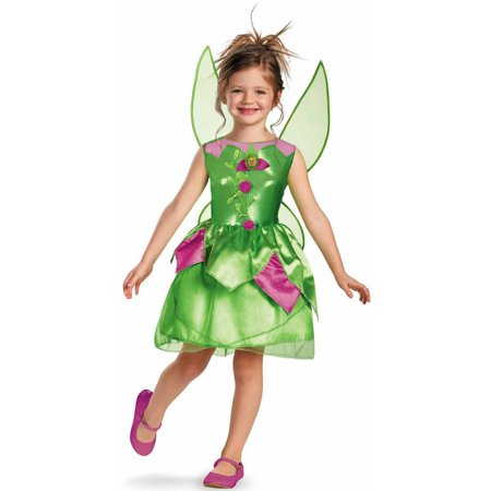 Disney Tinker Bell Girls' Child Halloween Costume - Tinkerbell Makeup For Kids