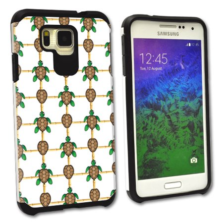 - MightySkins Protective Bumper Case Cover for Samsung Galaxy Alpha hybrid tpu rubber plastic Turtle Tile