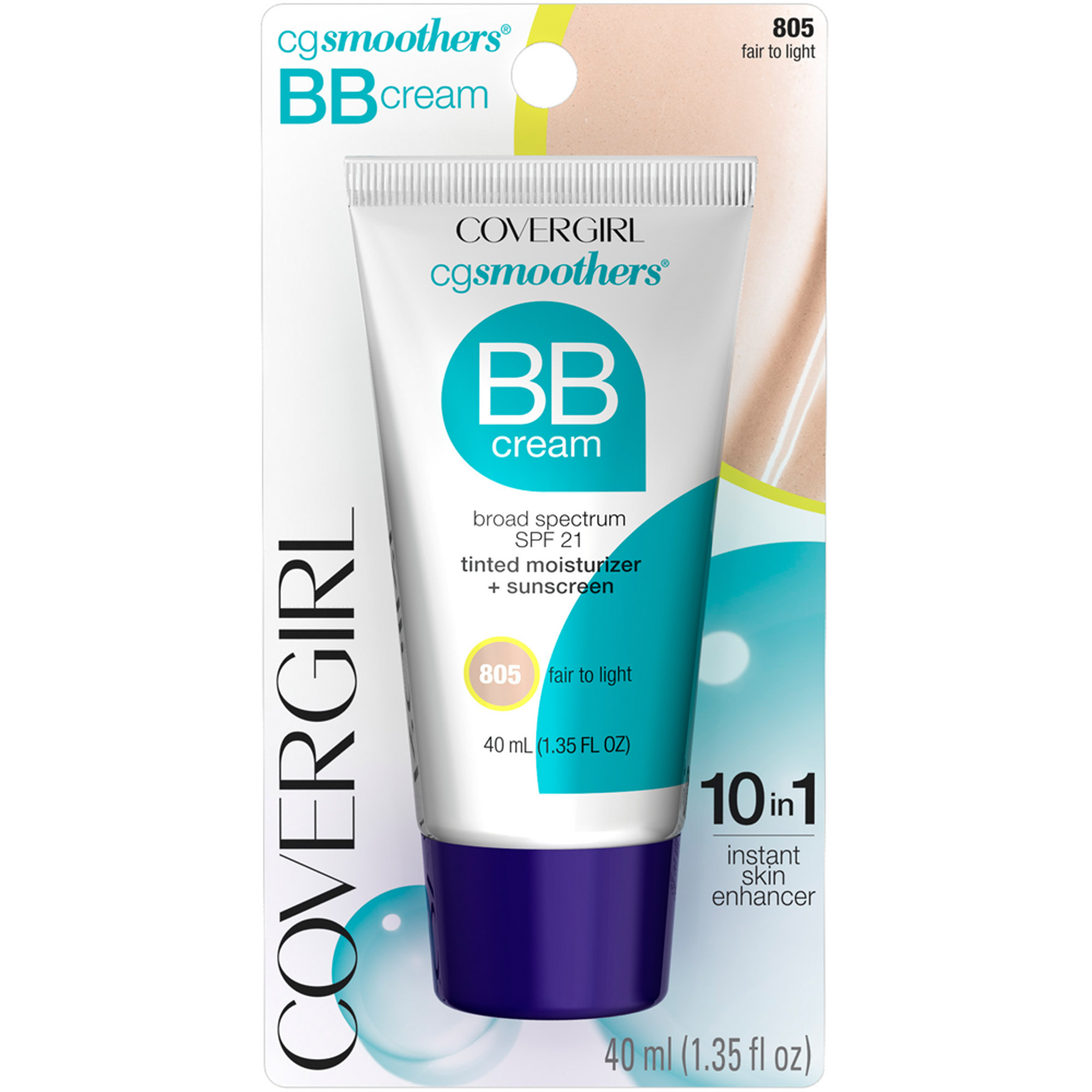 COVERGIRL Smoothers Spf 15 Tinted Moisturizer BB Cream Fair To Light 805, 1.35 oz