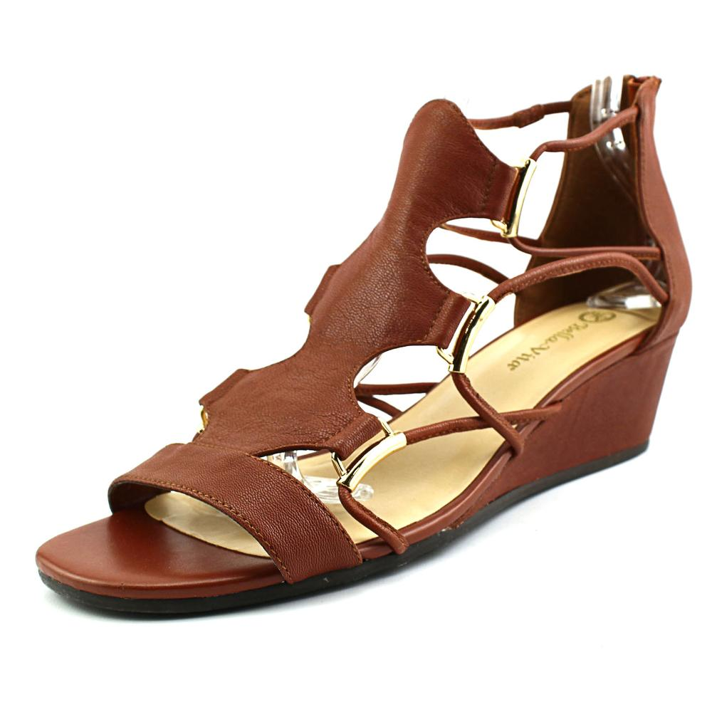 Bella Vita Isla Women Open Toe Leather Wedge Sandal by Bella Vita