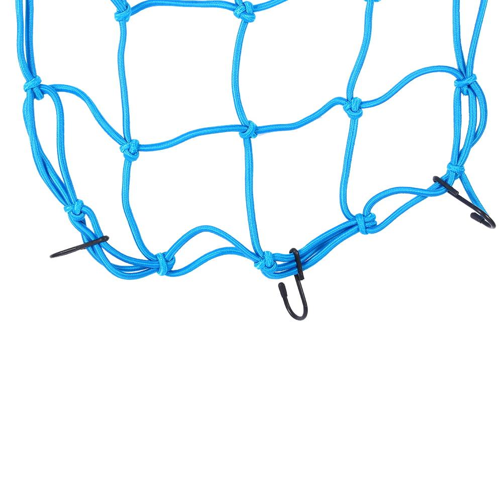 Bungee Motorcycle Helmet Cargo Net 6 Hooks Luggage//Package Cargo Net Load Cover Cord Web